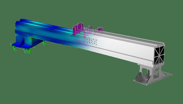 第4代PLUS航空铝横梁