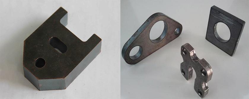 金属激光切割机切割的10mm碳钢板样品